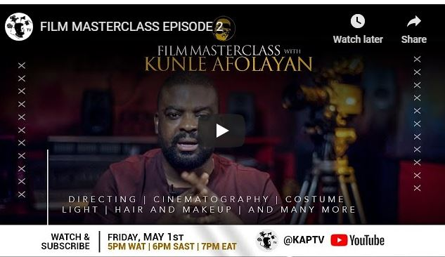 Film-making Masterclass With Kunle Afolayan