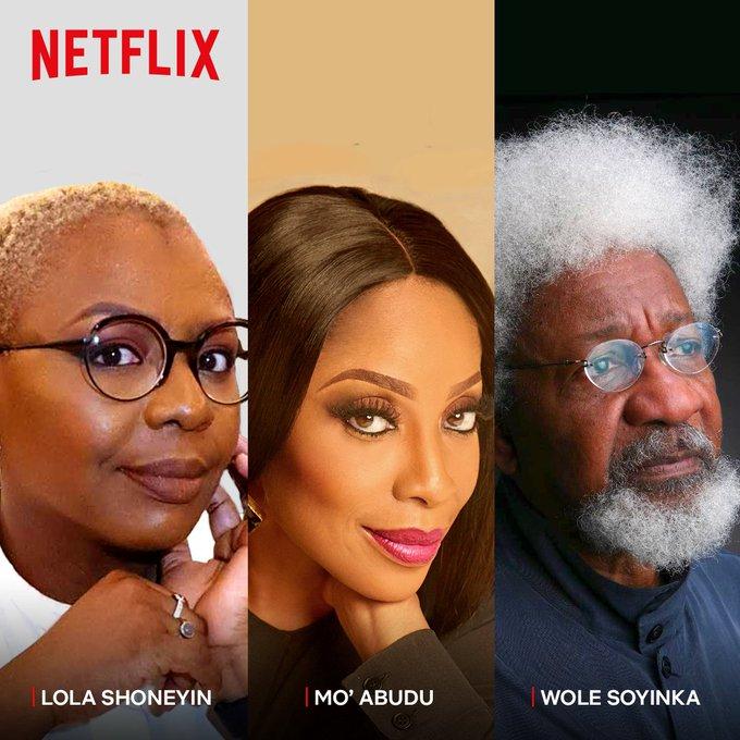 Netflix, Lola Shoneyin, Mo Abudu, Wole Soyinka