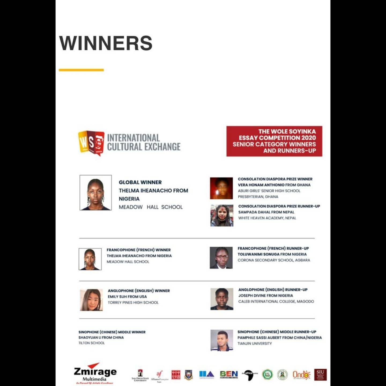 Alliance Française de Lagos' 2020 Wole Soyinka Essay Competition