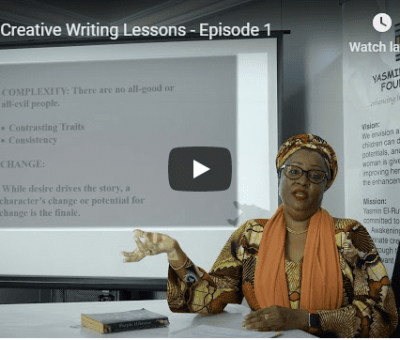 Creative Writing Lesson Yesmin El Rufai