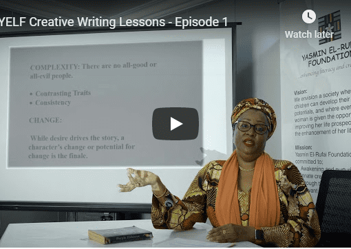 Creative Writing Lesson Yesmin El Rufai