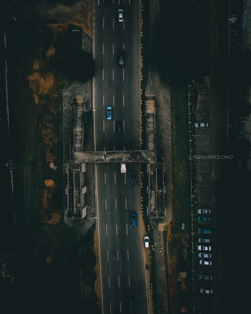 Drone Shot of an Highway in Abuja