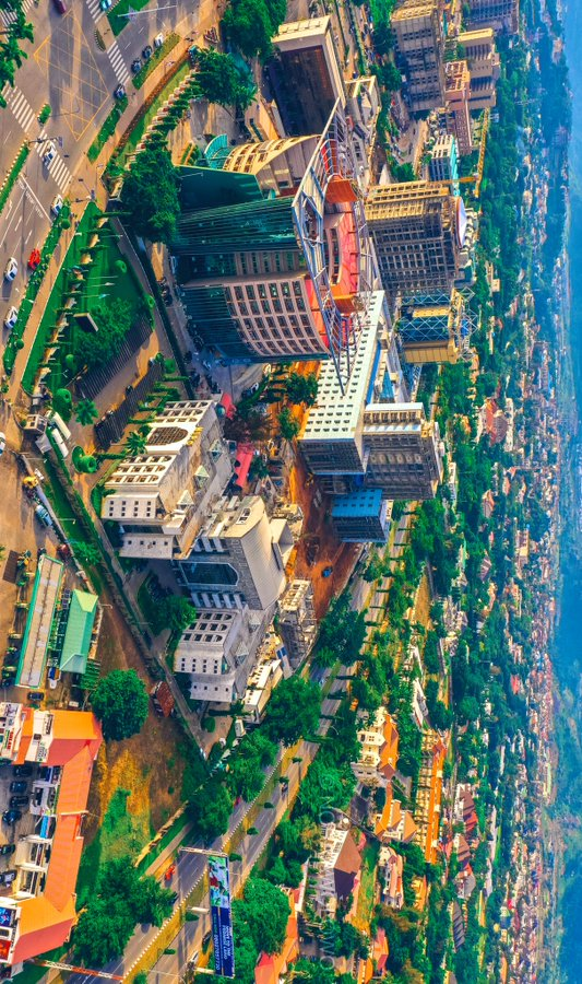Drone Shot of Transcorp Hilton hotel. Abuja