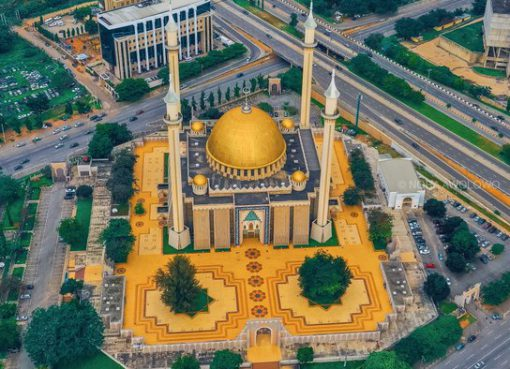 Drone Image of National Mosque Abuja