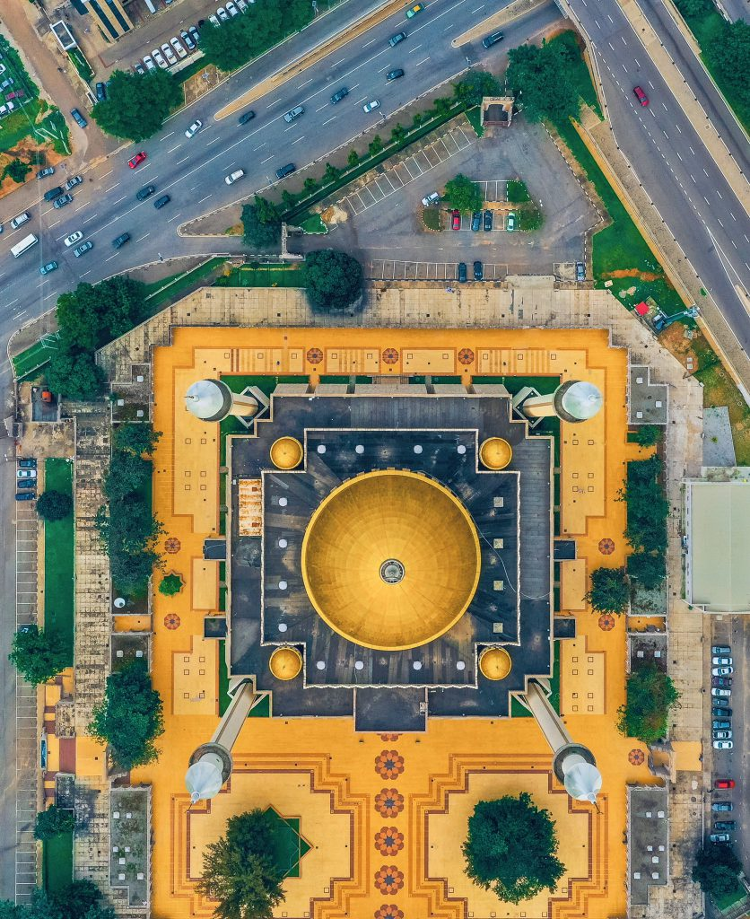 The Drone Shot of the National Mosque Abuja