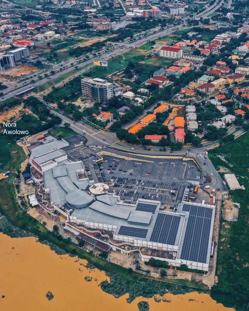Drone Shot of Abuja Mall