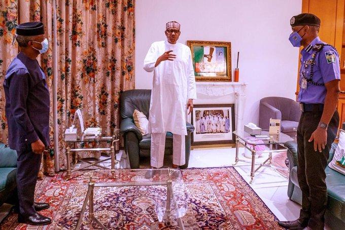 President Muhammadu Buhari Meet, VP, Prof Yemi Osinbajo and IGP