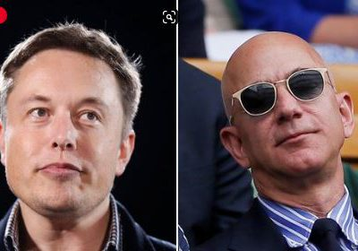 Elon Musk and Jeff Bazos