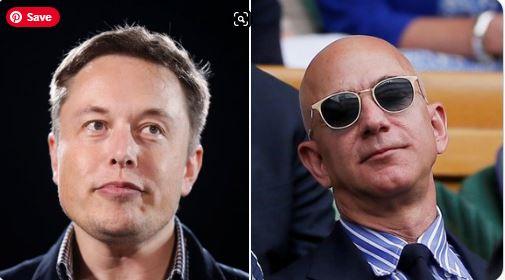 Elon Musk and Jeff Bazos