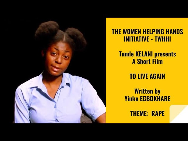 """Tunde Kelani Short Film on Rape Title """"To Live Again"""""""